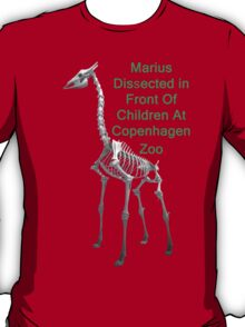 Marius Dissected In Front Of Children At Copenhagen Zoo  T Shirts & Hoodies. ipad & iphone cases T-Shirt