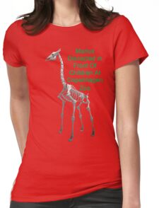 Marius Dissected In Front Of Children At Copenhagen Zoo  T Shirts & Hoodies. ipad & iphone cases Womens Fitted T-Shirt