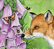 Fitzgerald Fox in the foxgloves by thewhippetywood