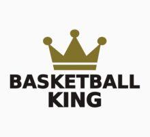Basketball King crown Kids Tee