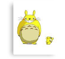 Pika-Totoro?! Canvas Print