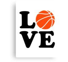Basketball love Canvas Print