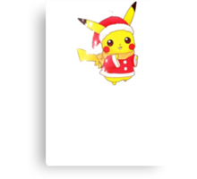 Christmas Pikachu  Canvas Print