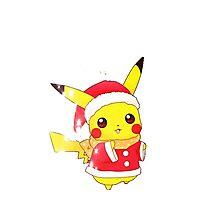 Christmas Pikachu  by dervmcd