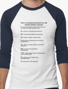 The Ten Commandments of Marching Band Men's Baseball ¾ T-Shirt