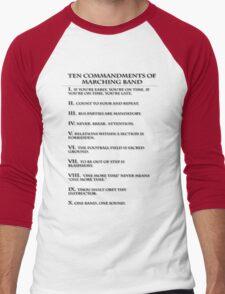 The Ten Commandments of Marching Band Men's Baseball ¾ T-Shirt
