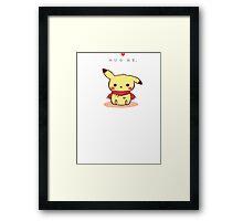 Pikachu and scarf Framed Print