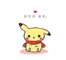 Hug me Pikachu, Pokemon by dervmcd