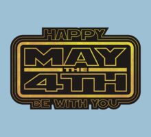 Happy May the 4th! (Yellow) Kids Clothes