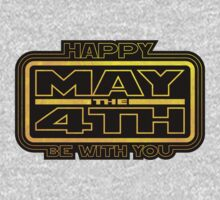 Happy May the 4th! (Yellow) One Piece - Long Sleeve