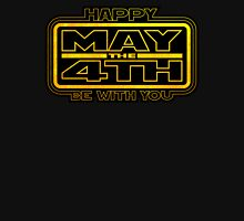 Happy May the 4th! (Yellow) Womens Fitted T-Shirt