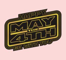 Happy May the 4th! (Yellow-Slanted) Baby Tee