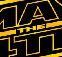 Happy May the 4th! (Yellow-Slanted) Sticker