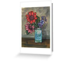 morning coffee with daisies Greeting Card