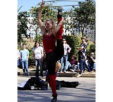 Acrobatic Street Performer Photographic Print