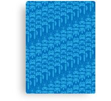 Video Game Controllers - Blue Canvas Print