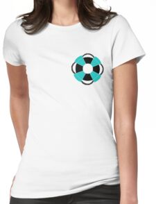 Nautical Based T-shirt Design - Life Ring Womens Fitted T-Shirt