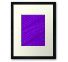 Video Game Controllers - Purple Framed Print