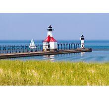 St. Joseph, Michigan Lighthouses Photographic Print