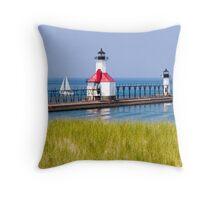 St. Joseph, Michigan Lighthouses Throw Pillow