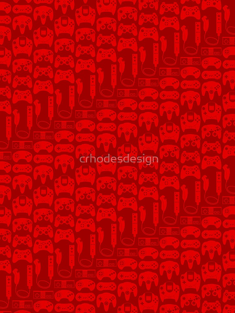 Video Game Controllers - Red by crhodesdesign