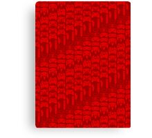 Video Game Controllers - Red Canvas Print