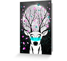 Roots To Grow and Wings To Fly (Cherry Blossom Deer) Greeting Card
