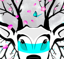 Roots To Grow and Wings To Fly (Cherry Blossom Deer) Sticker