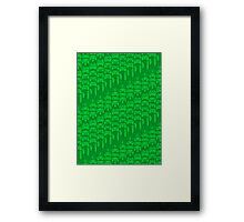 Video Game Controllers - Green Framed Print