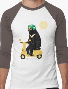 scooter bear Men's Baseball ¾ T-Shirt