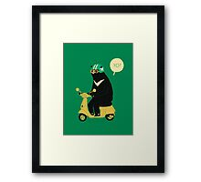 scooter bear Framed Print