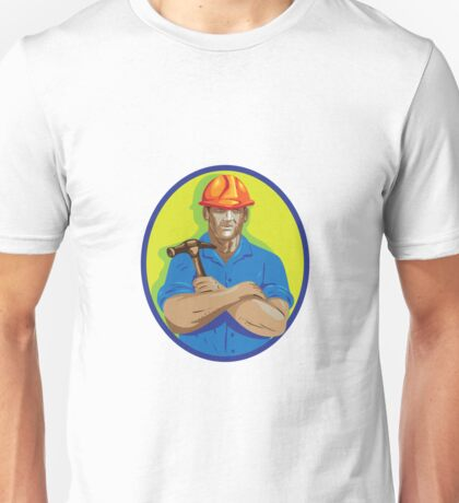 Construction Worker Foreman Arms Crossed WPA Unisex T-Shirt