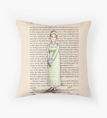 Jane Austen - Jane Bennet Throw Pillow