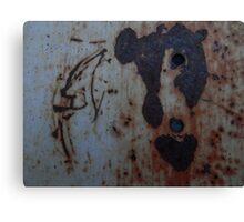 Rusty heart. Canvas Print
