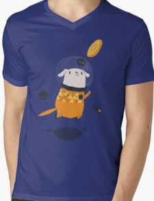 space dog Mens V-Neck T-Shirt