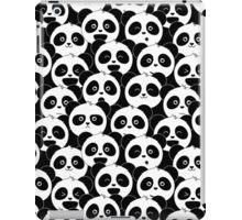 Some Pandas on Black iPad Case/Skin