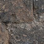 stone wall  from kirkstall abbey yorkshire  by simon sugden