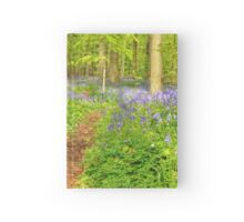 Flower carpet of wild hyacinths in the forest Hardcover Journal