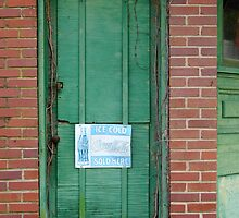 The Green Door by WildestArt