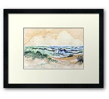 Towards the pebbled shore Framed Print