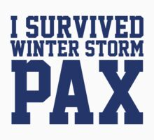 Funny 'I Survived Winter Storm Pax' Weather Channel T-Shirt by Albany Retro