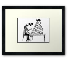 A cat named Sonata Framed Print