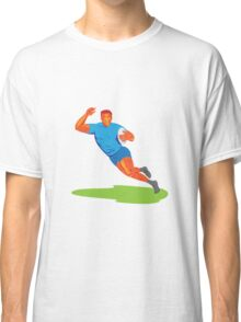 Rugby Player Running Ball WPA Classic T-Shirt