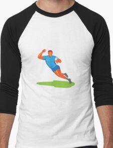 Rugby Player Running Ball WPA Men's Baseball ¾ T-Shirt