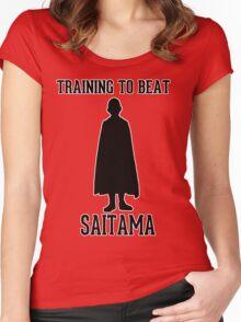 Training to beat Saitama Women's Fitted Scoop T-Shirt