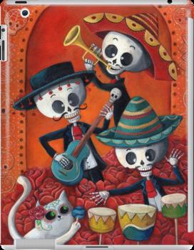 Dia de Los Muertos Skeleton Musicans by colonelle