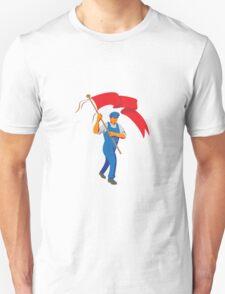 Worker Marching Flag Bearer WPA T-Shirt