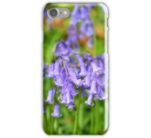 Flowers of wild hyacinth in Hallerbos iPhone Case/Skin