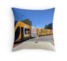 New Gold Coast Tram Throw Pillow