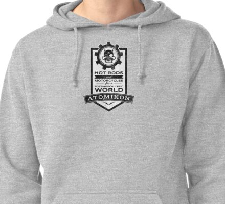 ATOMIKON Hot Rods & Motorcycles Pullover Hoodie